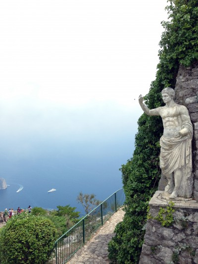 From the highest point on the Island of Capri.