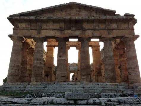 Ancient Greek ruins (some of the only ones in Italy) at a site in Paestum, Italy.
