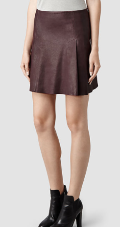 AllSaints Olvera leather skirt