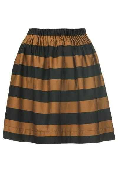 Topshop stripey gathered waist skirt