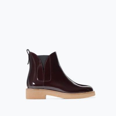 Zara contrasting Chelsea boot